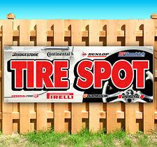 """Tire Spot Advertising Vinyl Banner Flag Sign Usa Many Sizes 18"""" 24"""" 36"""" 52"""""""
