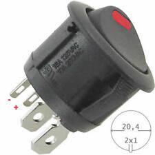 Wippschalter rund 125/250V AC 10/6A rote, getrennte LED Beleuchtung HQ Schalter