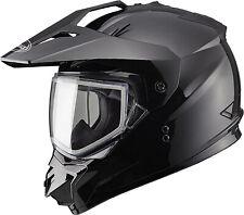 GMAX GM-11 Sport Snowmobile Helmet Flat Black w/ Electric Shield