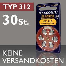 5 Blister Pile Boutons Maxsonic Appareils Auditif Batterie Pr 312