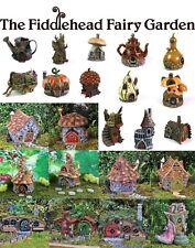 Fiddlehead Fairy Garden Houses Outdoor Suitable Opening Doors Weatherproof