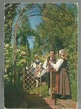 cartolina di costume costumi della val torre friuli  1963