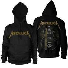 Metallica Hetfield Guitar Iron Cross Official Men's Black Pullover Hoodie