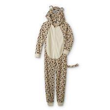 Leopard Pajamas Onesie Plus Size 3X Womens One Piece Union Suit Hood Costume NEW