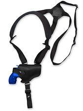 "NEW Barsony Black Leather Horizontal Gun Shoulder Holster for S&W 2"" Snub Nose"