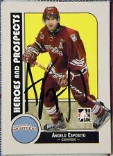 Atlanta Thrashers Angelo Esposito Signed 08/09 Montreal Juniors Card Auto