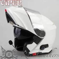 Viper RS-V171 Bl + Bluetooth Bianco Lucido Casco da Moto Motocicletta