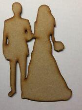 Forma IN LEGNO AMORE couplemdf Laser Cut sposa sposo nozze decorazione Craft in bianco