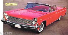 1959 LINCOLN CONTINENTAL MARK IV 4 SPEC SHEET/Brochure