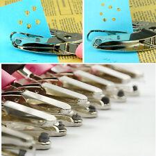 Comfortable ergonomic soft grip paper punch pliers multicolor paper hole process
