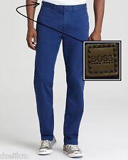 NWT Hugo Boss Black by Hugo Boss Coloured Regular Fit Chinos Pants in Blue 40R