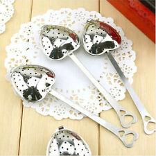 Stainless Steel Spoon Tea Strainer Infuser Steeper Heart Shaped Wedding Favor ST