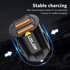 Mini Dual USB Car Charger 12-24V Socket Lighter Adapter Plug Universal Twin Port