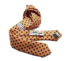 Cravatta bambino arancione microfantasia classica di seta bimbo pagetto m Italy