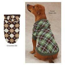 SMALL Hooded Argyle Dog Sweater Yorkie Poodle Shih tzu Maltese Dog Coats SOFT