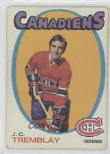 1971-72 Topps #130 JC Tremblay Montreal Canadiens J.C. Hockey Card