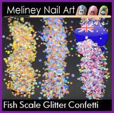 Fish Scale Glitter Confetti Mermaid Nail Art Decoration Set Manicure Hexagon