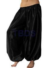 Black   Student Satin Harem Yoga Trouser Belly Dance Pant Pantalons   27 Color