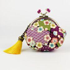 Handmade Japanese Sakura Cherry Blossom Oriental Coin Purse Collectable #0140