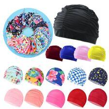 Free size Pool Bathing Hats Elastic Nylon Turban Long Hair Protect Swimming Cap