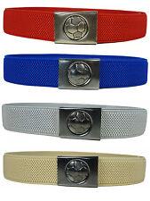 Kids Belts. Junior/Childrens 5-15 Yrs Elasticated Belt with Football Clip Design