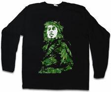 GANJA BOB II LONG SLEEVE T-SHIRT Jamaica Marley Cannabis Hemp Reggae Wailers