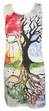 MIRROR Damen Träger-Kleid Baum des Lebens Kunst Esoterik Tunika Yoga Sure S M L