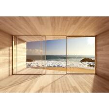Vlies Fototapete Fenster zum Meer Tapete Wandbilder XXL Wandtapete Dekoration Ru