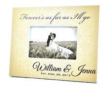 Patterned Background Wedding Picture Frame