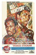 Vintage 1976 Ken Norton Muhammad Ali Boxe Poster A3 imprimer