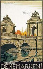 Vintage Copenhagen Denmark Tourism Poster A3 Print