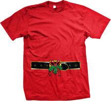Belt Mistletoe Buckle Flirty Kiss Christmas Under Merry Xmas Me On Men's T-Shirt