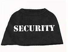 Black  Dog Tank Shirt Top SECURITY Dog Tee T-Shirt
