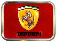 FERRARI 2oz GOLD TOBACCO TIN,STASH CAN,STORAGE TIN