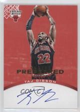 2012-13 Panini Preferred Signatures Red #194 Taj Gibson Chicago Bulls Auto Card