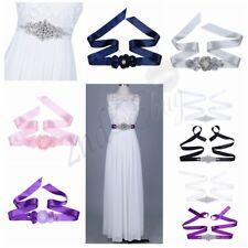 Crystal Rhinestone Bridal Wedding Sash Dress Waist Belt Ribbon Waistband Gown