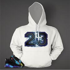23 Hoodie to Match AIR JORDAN Retro Aqua 8 Shoes Graphic Hoodie Pullover