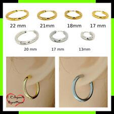 orecchini a cerchio donna color da oro argento piccolo acciaio uomo medio in