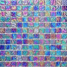 Pearl Iridescent Dark Purple Glass Mosaic Tiles (MT0042)