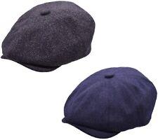 Mens Newsboy Cap Baker Boy Hat Grey or Navy Peaky Blinders Style Flat Cap