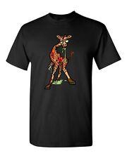 Zombie Giraffe Undead Animals Devil Monster Horror Adult DT T-Shirt Tee