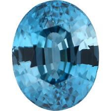 Natural Fine Blue Zircon - Oval - Cambodia - Top Grade