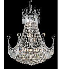 "Palace Crown A 28""H Crystal Chandeliers Light Lamp - Chrome Precio Mayorista"