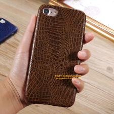 Luxury Crocodile Grain Leather Hard Bumper Case Cover For iPhone 8 7 6 Plus 5 SE