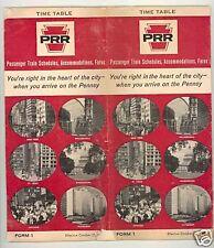 October, 1965 Pennsylvania Railroad Time Table Train Old
