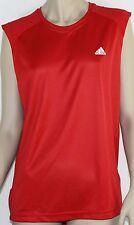 ADIDAS  ESS F Tank Achsel - Shirt  Fitness  Climalite  Rot  S / M