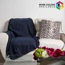 New 50 x 60 Soft Warm Cozy Fleece Throw Blanket Fleece ALL COLORS Free Shipping