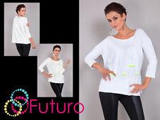 De Moda Para Mujer Top cuello bote estilo jersey de manga 3/4 túnica camiseta tamaño 8-12 ft1006