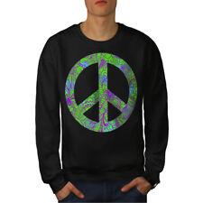 Hippie Pace per sempre Uomini Felpa NUOVO | wellcoda