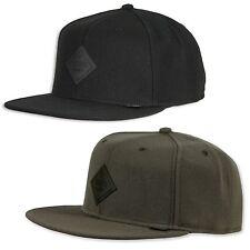 DJINNS ® 6 PANEL MONOCHROME SNAPBACK CAP Basic Baseball Leder Patch Kappe Mütze